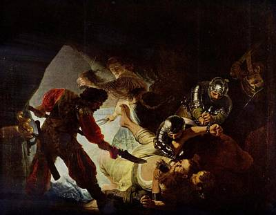 Samson And Delilah Art Print by Rembrandt