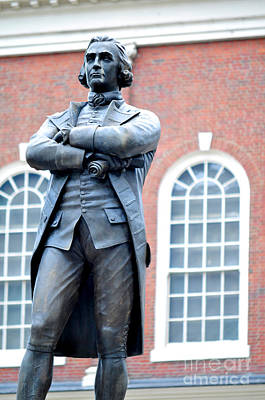 Photograph - Samuel Adams Statue Massachusetts State House by Staci Bigelow