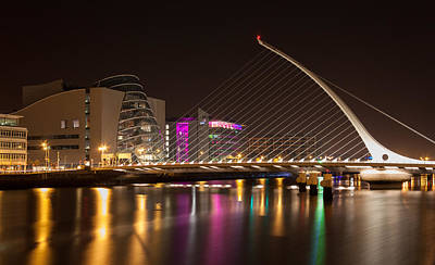 Samuel Beckett Bridge In Dublin City Art Print