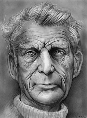 Novelist Drawing - Samuel Beckett by Greg Joens
