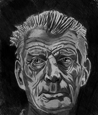 Drawing - Samuel Beckett by Timothy Fleming