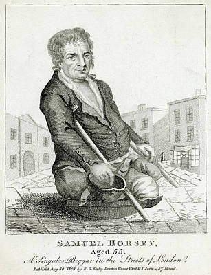 Horsey Drawing - Samuel Horsey, A Beggar, Requented by Mary Evans Picture Library