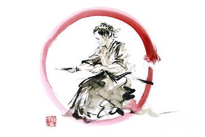 Samurai Painting - Samurai Enso Bushido Way. by Mariusz Szmerdt