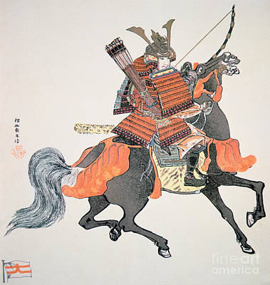 Horseback Painting - Samurai by Japanese School