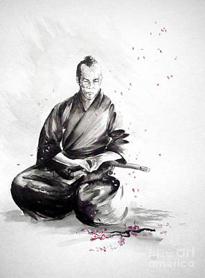 Japanese-art Painting - Samurai Warrior Japanese Martial Arts. Bushido. by Mariusz Szmerdt