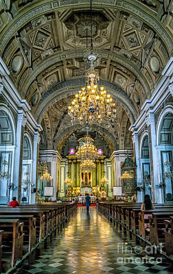 San Agustin Church  Art Print by Adrian Evans