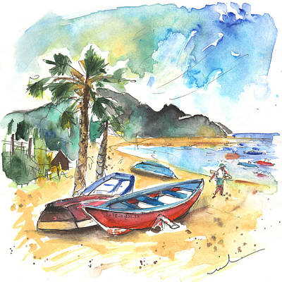 Travel Sketch Drawing - San Andres 01 by Miki De Goodaboom