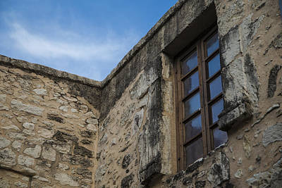 Photograph - San Antonio Alamo Wall And Window by John McGraw
