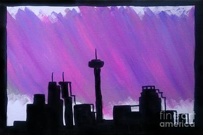 Painting - San Antonio At Dusk by Marisela Mungia