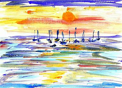 Painting - San Antonio Bay by Anthony Fox