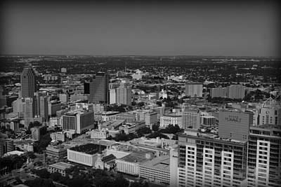 San Antonio - Bw Art Print by Beth Vincent