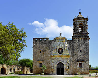 Historic Site Photograph - San Antonio Church Mission San Jose by Christine Till