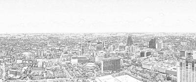 Photograph - San Antonio Downtown Lineart by C H Apperson
