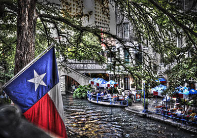 San Antonio Flag Art Print