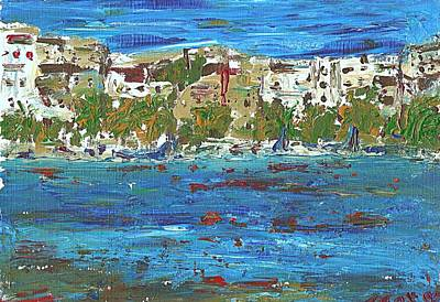 Painting - San Antonio Ibiza by Anthony Fox