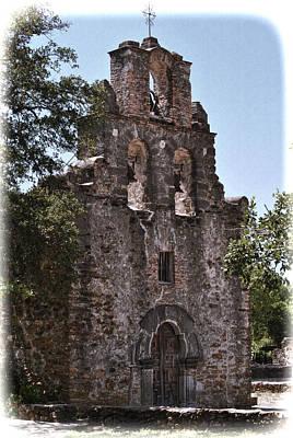 San Antonio Mission Print by Kathy Williams-Walkup