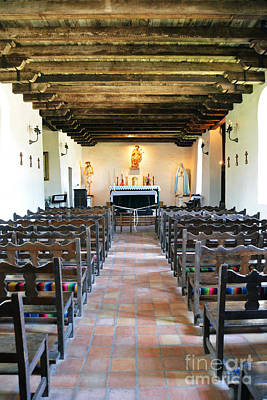 National Park Photograph - San Antonio Missions National Historical Park Mission Espada Interior Chapel by Shawn O'Brien