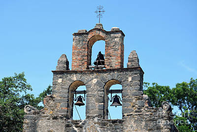 National Parks Photograph - San Antonio Missions National Historical Park Mission Espada Steeple Bells by Shawn O'Brien