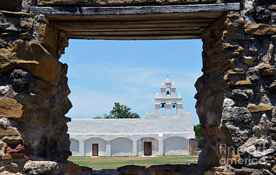 National Park Photograph - San Antonio Missions National Historical Park Mission San Juan Exterior Profile Through Window by Shawn O'Brien
