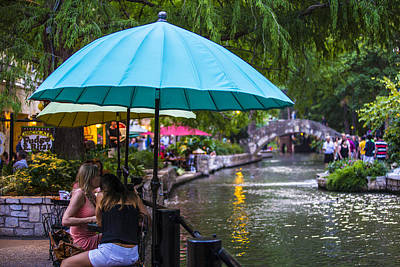 Photograph - San Antonio River And Umbrella  by John McGraw