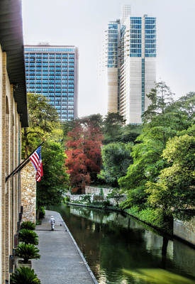 Photograph - San Antonio River by David and Carol Kelly