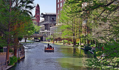 City Center Photograph - San Antonio River Walk by Christine Till