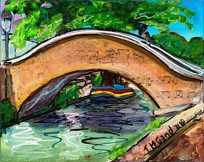 Riverwalk Mixed Media - San Antonio River Walk Footbridge by TMGand