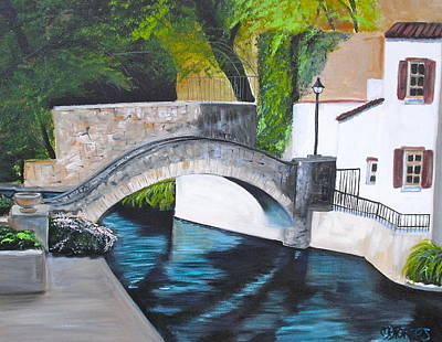 Del Rio Painting - San Antonio River Walk by Melissa Torres
