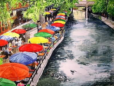San Antonio River Walk Art Print