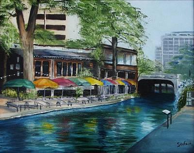San Antonio Riverwalk Cafe Art Print by Stefon Marc Brown