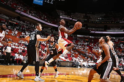 Photograph - San Antonio Spurs V Miami Heat - Game by Nathaniel S. Butler