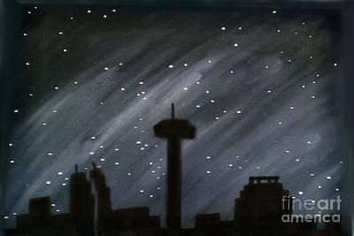Painting - San Antonio Stars by Marisela Mungia