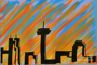 Painting - San Antonio Sun Rise by Marisela Mungia