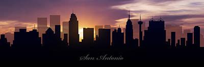 San Antonio Sunset Print by Aged Pixel
