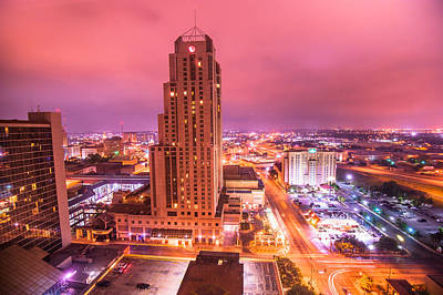 Photograph - San Antonio Texas At Night by Gregory Ballos