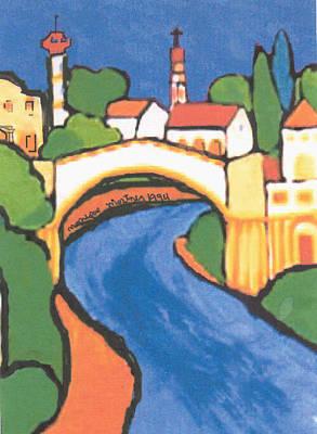 Painting - San Antonio Tx Usa Riverwalk by Monique Montney