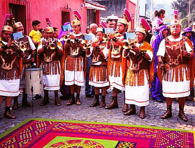Photograph - San Bartolome Broom-hatted Band by Robert  Rodvik