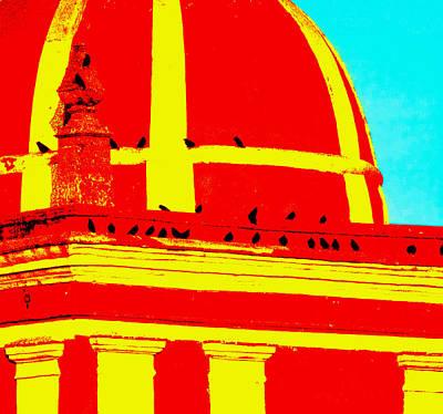 Belfry Digital Art - San Bartolome Graphic by Robin Graham