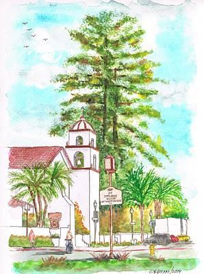 San Buenaventura Mission In Ventura - California Original by Carlos G Groppa