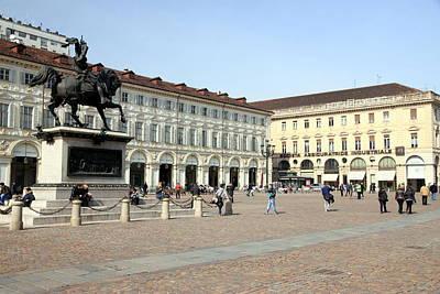 San Carlo Square In Turin Art Print