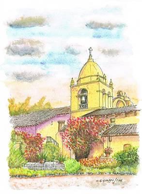 San Carlos Painting - San Carlos Mission, California by Carlos G Groppa