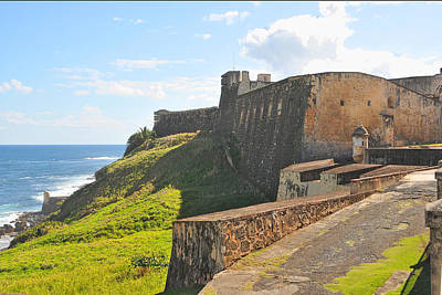 Photograph - San Christobal Castle Old San Juan by Alan Lenk