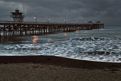 San Clemente Beach Photograph - San Clemente Pier Dawn by Joan Carroll