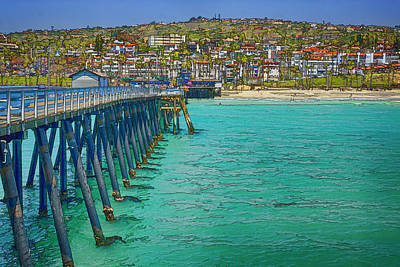 Sports Royalty-Free and Rights-Managed Images - San Clemente Pier by Joan Carroll