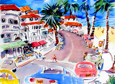 San Clemente Beach Painting - San Clemente Strip by John Dunn
