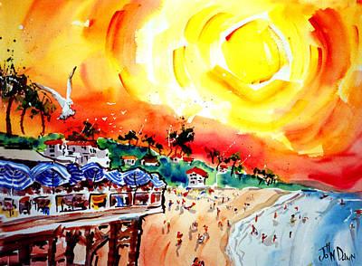 Clemente Painting - San Clemente Sun by John Dunn