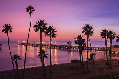 San Clemente Sunset Meditation Art Print by Scott Campbell