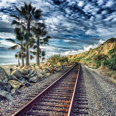 Track Photograph - San Clemente Tracks by Hal Bowles