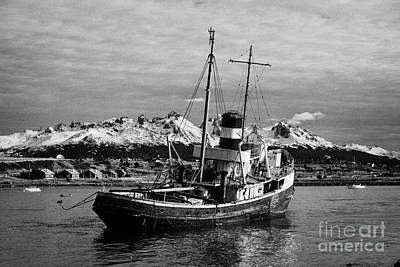 Saint Christopher Photograph - san cristobal saint christopher tugboat wreck in Ushuaia Argentina by Joe Fox