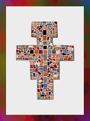 San Damiano Mosaic Cross  Print by Edward Joseph Anthony